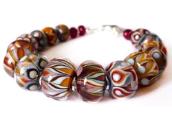 Autumn Coloured Glass Bead Bracelet