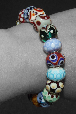 Hobo, mixed bead bracelet