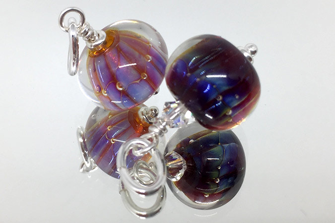 Double Helix Small Handmade Glass Pendants